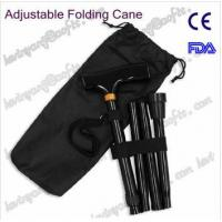 China AOFEITE High quality 4 sections Folding Cane with Carrying Case, Black with FDA,CE Certi. wholesale