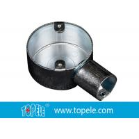 China TOPELE 25mm / 32mm BS Electrical Conduit Circular Junction Box For Conduit Fittings wholesale