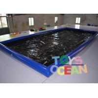 China Air Sealed Type Inflatable Car Wash Mat Water Collector Boarding With Drain wholesale