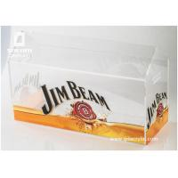 Commercial Beer Acrylic Ice Bucket Liquor Bottle Stand With Advertising Graphic