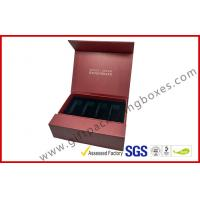 China Creative red color magnet gift packaging box with gold foil, EVA foam with black velet wholesale