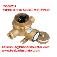 Quality 10A/16A marine brass socket with switch CZKH109 IP56 adopted standard DIN89263 for sale