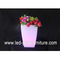 China Rechargeable Waterproof Plastic lighting illuminated plant pots for bars , shops decorations wholesale