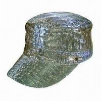 China Winter cap, made of PU fabric wholesale