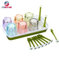 China Kitchen organisers drainer draining rack plastic cup holder drainer baby bottle drying rack-RECTANGLE wholesale