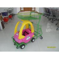 Quality 95L Children / Kids Shopping Carts With Rear Basket / 4 Swivel Flat Caster SGS CE for sale