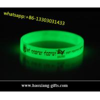 China high quality customized silicone wristbands/bracelet for events glow in dark wholesale