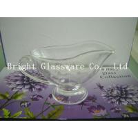 China perfect design glass ice cream bowl with handle, Footed Ice Cream Bowls, glass tea pot wholesale
