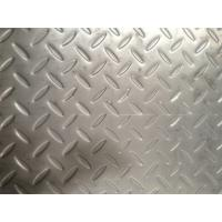 China Grade 304 Floor Stainless Steel Checker Plate 4mm 5mm 1500mm X 6000mm on sale