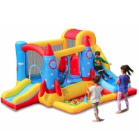China Commercial Mini Inflatable Bouncy House Slide With Ocean Balls Pool For Kids wholesale