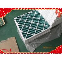 China 24x24x2 MERV6 MERV8 Cardboard synthetic fiber disposable pleated panel airfilter wholesale
