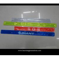 China hot selling high quality colorful customized logo PVC reflective slap wristband/slap band wholesale