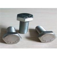 China Full Thread Galvanized Hex Bolts , Stainless Steel Hex Bolts For Trucks Or Cars wholesale