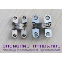 China Door Hardware Invisible Stainless Steel Hinges With Satin Chrome Finish wholesale