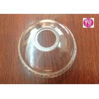China 4oz Transparent BOPS Clear Dome Lids  A Hole For Ice Cream Cup wholesale