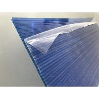 China Blue Polycarbonate Roofing Sheets Lexan / Makrolon Raw Material 6mm Thickness wholesale