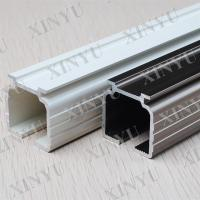 China Wooden Grain European Fixed Aluminium Sliding Door Profiles Consist with Turn / Tilt Door wholesale