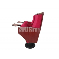 China CA117 Fire Resistance Fabric Church Auditorium Chairs Seats Electrostatic Powder Coat on sale