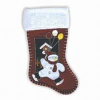 China Christmas Stocking, Measures 45cm, Available in Wine Color wholesale
