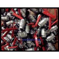 China 2PC Body Screwed End 1000PSI Stainless Steel Ball Valves A351 CF8 / CF8M / CF8C wholesale