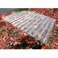 China Clear Plastic Corrugated Polycarbonate Sheets 0.8 Mm-3.0mm Weather Resistance wholesale