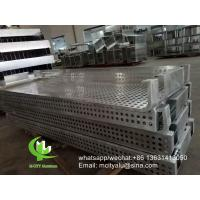 China custom made aluminum perforated panel cladding panel with powder coated for facade curtain wall wholesale