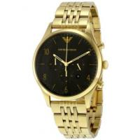 China EMPORIO ARMANI AR1893 YELLOW GOLD BLACK DIAL CHRONOGRAPH MENS WATCH wholesale
