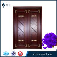 China factory directly sale villa front entrance double wooden doors wholesale