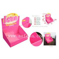 China Pink and Outstanding Cardboard Table Top Display Unit for Fashion Accessories wholesale
