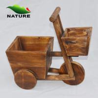 China Flower Planter / Wood Car Cute Flower Planter for Indoor and Outdoor wholesale