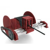 China Customized Color Lebus Grooved Drum / Hydraulic Winch With Spooling Device wholesale