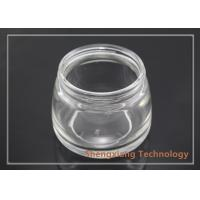 Quality 100ml Glass Storage Jars Small Clear Glass Bottles with Screw Neck In Trapezoid for sale