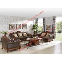 China 1+2+3 Italy Leather Upholstery Sofa Set with Wooden Tv Stand and Storage Cabinet wholesale
