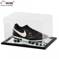 China Dustproof Custom Clear Acrylic Football Sneaker Shoes Display Case wholesale