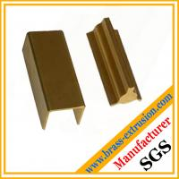 China C38500 CuZn39Pb3  CuZn39Pb2 CW612N C37700 golden color brass extrusion profiles section hardware wholesale
