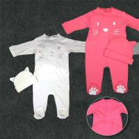 Quality Full Cotton Newborn Baby Clothes Set Baby Dress 180G 100% Cotton Interlock for sale