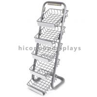 China 5 Layer Metal Tray Retail Flooring Display Stand Wire Snack Candy Bar Display Stand wholesale