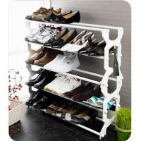 China 5 Tier Stackable Shoe Storage Racks with Pink Black Blue JP-SR4025 wholesale