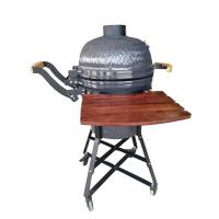 China Cast Iron Grate Porcelain Enamel Big Egg Grill 21 Inch High Pressure Protection Device wholesale