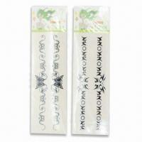 China Tattoo Stickers, Various Sizes and Designs are Available, Increases Hand Brightness wholesale