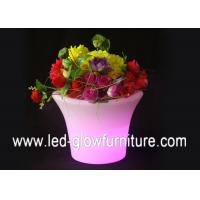 Quality Beautiful Color changing led lighted flower pots outdoor ,Illuminated LED Ice for sale