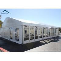 China Elegant Different Shape Glass Wall Tent Structures For Outdoor Business Party wholesale