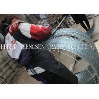 China 0.5mm CBT - 65 Galvanized Razor Blade Barbed Wire With 22 mm Razor Length wholesale