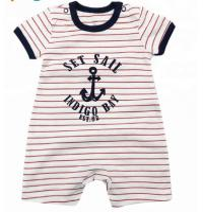 China Summer 100%  cotton interlock short sleeve girls boys baby pajamas kids clothes wholesale