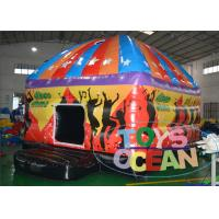 China Crazy Music Dancing Inflatable Disco Dome , Inflatable Disco Bouncer House 5 x 4M wholesale