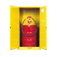 China Flame Proof 2 Door Drum Storage Cabinets 60 Gallon For Chemical Liquid wholesale