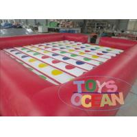 China Colorful Rectangle Inflatable 3D Twister Games / Inflatable Sports For Family wholesale