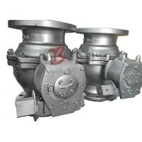 China PTFE Soft Seated Ball Valve Floating Ball Valve 150LB Worm Gear Q41F Full Bore on sale