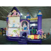 China Business Bouncy Kids Inflatable Playground Jumping Blue For Rental wholesale