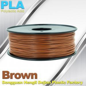 China Brown PLA Filament Makerbot 3D Printer Materials  1kg  / spool on sale